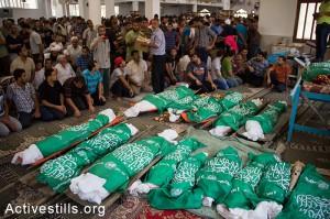 Gaza under attack, Funeral in Khan Younis, Gaza Strip, 21.7.2014