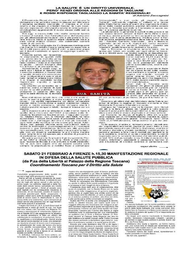 articolo di adriano sulla sanita