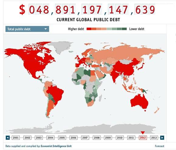 debito-pubblico-mappa-Mondo
